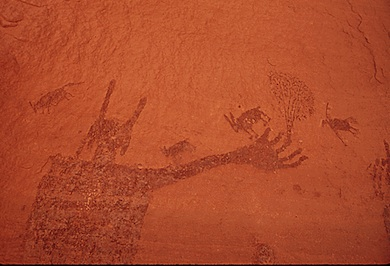 pictographs photographed by David Hiser for the EPA's DocuAmerica project posted at The National Archives website